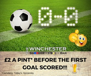 £2 A PINT- BEFORE THE FIRST GOAL SCORED!!!